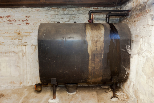 heating oil storage tank old